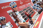 Romain Bardet (FRA) AG2R La Mondiale signs on before the start of Stage 1 Emirates Motor Company Stage of the 2017 Abu Dhabi Tour, running 189km from Madinat Zayed through the desert and back to Madinat Zayed, Abu Dhabi. 23rd February 2017<br /> Picture: ANSA/Matteo Bazzi | Newsfile<br /> <br /> <br /> All photos usage must carry mandatory copyright credit (&copy; Newsfile | ANSA)