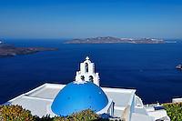 The view from Firostefani in Santorini, Greece