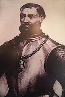 Portrait of Francisco Hernandez de Cordoba, discoverer of the Yucatan peninsula, Museo Historico Naval or Naval History Museum, city of Veracruz, Mexico