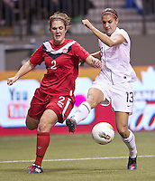 VANCOUVER, CANADA - Sunday, January 29, 2012: The USA women's soccer team defeated Canada 4-0 to in the final of the 2012 CONCACAF Olympic Qualifying tournament.