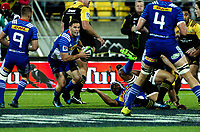 Shaun Treeby in action during the Super Rugby match between the Hurricanes and Stormers at Westpac Stadium in Wellington, New Zealand on Friday, 5 May 2017. Photo: Mike Moran / lintottphoto.co.nz