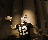 1ST CHOICE INSIDE----John Beck BYU quarterback portrait shoot on the BYU campus Maeser Building in Provo, Utah Wednesday August 2, 2006.  August Miller/Deseret Morning News