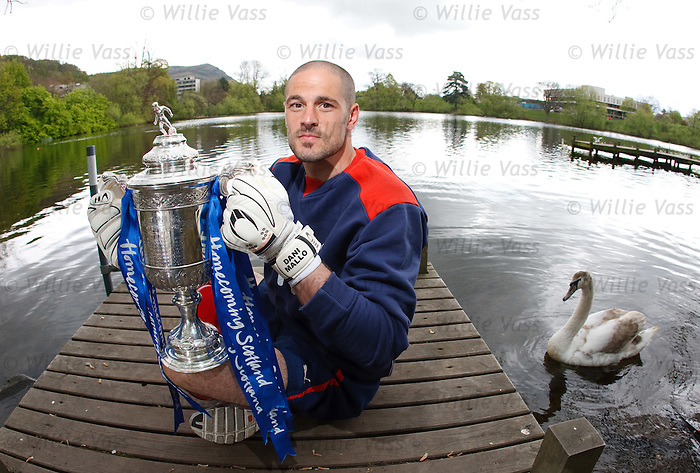 Falkirk's goalkeeper Dani Mallo looking ahead to Sunday's Homecoming Scottish Cup semi final