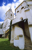 Exterior of a Saxon Unesco World Heritage Church at Dariju ( Szekelyderz ) Transylvania, Romania