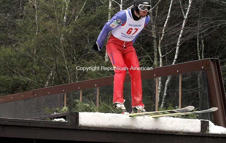 SALISBURY, CT-11 FEBRUARY 2012 021112JW01 - Former Fall Village resident Julian Holland made a return to the ski jumping scene Saturday during the 2012 Salisbury Invitational Ski Jump after retiring from the sport in 2006..Jonathan Wilcox Republican American..