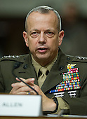 General John R. Allen, USMC, Commander, International Security Assistance Force and Commander, United States Forces Afghanistan, testifies on the situation in Afghanistan before the U.S. Senate Armed Services Committee on Capitol Hill in Washington, D.C. on Thursday, March 22, 2012..Credit: Ron Sachs / CNP