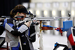 COLUMBUS, OH - MARCH 11:  Dacotah Faught, of the University of Nebraska, competes during the Division I Rifle Championships held at The French Field House on the Ohio State University campus on March 11, 2017 in Columbus, Ohio. (Photo by Jay LaPrete/NCAA Photos via Getty Images)