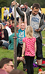 Electric Fields music festival at Drumlanrig Castle near Dumfries Scotland. Making your own entertainment between songs