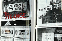 videothing art show at the strange gallery, hollywood