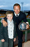 Jeanfield 208 St Johnstone Supporters Club Cult Hero of the Year Award to Dave Mackay (absent so collected by Jody Morris) presented by Conor McGregor..Picture by Graeme Hart..Copyright Perthshire Picture Agency.Tel: 01738 623350  Mobile: 07990 594431