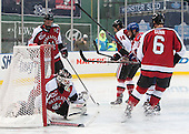 Josh Manson (NU - 3), Clay Witt (NU - 31), Braden Pimm (NU - 14), Stephen Buco (UML - 11), Mike Gunn (NU - 6) - The Northeastern University Huskies defeated the University of Massachusetts Lowell River Hawks 4-1 (EN) on Saturday, January 11, 2014, at Fenway Park in Boston, Massachusetts.