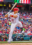 7 April 2016: Washington Nationals first baseman Ryan Zimmerman at bat during the Nationals' Home Opening Game against the Miami Marlins at Nationals Park in Washington, DC. The Marlins defeated the Nationals 6-4 in their first meeting of the 2016 MLB season. Mandatory Credit: Ed Wolfstein Photo *** RAW (NEF) Image File Available ***