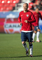 03 June 2012: US Men's National Soccer Team midfielder Michael Bradley #4 in action during the warm-up in an international friendly  match between the United States Men's National Soccer Team and the Canadian Men's National Soccer Team at BMO Field in Toronto..The game ended in 0-0 draw..