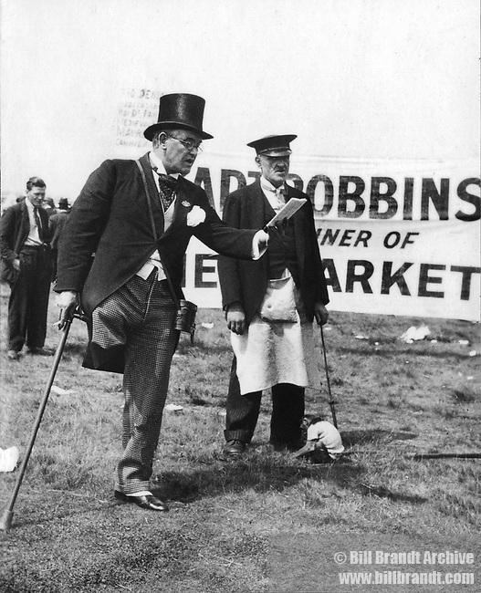 One legged man at races 1930s