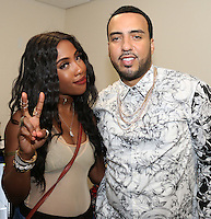 NEW ORLEANS, LA - JULY 3, 2016 Sevyn & French Montana backstage at Essence Festival at Mercedes Benz Superdome, July 3, 2016 in New Orleans, Louisiana. Photo Credit: Walik Goshorn / Media Punch