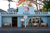 Mexican seafood restaurant or cockteleria in Playa del Carmen, Riviera Maya, Quintana Roo, Mexico.