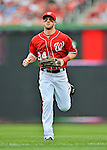 2 September 2012: Washington Nationals' rookie outfielder Bryce Harper trots back to the dugout during a game against the St. Louis Cardinals at Nationals Park in Washington, DC. The Nationals edged out the visiting Cardinals 4-3, capping their 4-game series with three wins. Mandatory Credit: Ed Wolfstein Photo