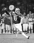 84FTB Holiday Bowl 712 D 36.Bosco Holiday Bowl..6 Robbie Bosco. Holiday Bowl vs Michigan..December 21, 1984..Photo by Mark Philbrick/BYU..© BYU PHOTO 2009.All Rights Reserved.photo@byu.edu  (801)422-7322