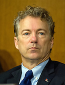 United States Senator Rand Paul (Republican of Kentucky), a member of the US Senate Committee on Foreign Relations, at the hearing considering the nomination of Rex Wayne Tillerson, former chairman and chief executive officer of ExxonMobil to be Secretary of State of the US on Capitol Hill in Washington, DC on Wednesday, January 11, 2017.<br /> Credit: Ron Sachs / CNP