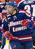 Derek Arnold (UML - 29) - The visiting University of Massachusetts Lowell River Hawks defeated the Harvard University Crimson 5-0 on Monday, December 10, 2012, at Bright Hockey Center in Cambridge, Massachusetts.