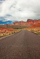 731350264 the scenic drive and red rock formations in capitol reef national park utah united states