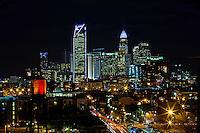 Charlotte Skyline Photography - Charlotte NorthCarolina skyline shot from the Southend of Charlotte.<br /> <br /> Nighttime Charlotte NorthCarolina Skyline.<br /> <br /> Charlotte Photographer - PatrickSchneiderPhoto.com