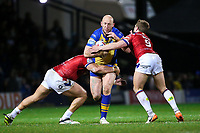 Picture by Alex Whitehead/SWpix.com - 17/03/2017 - Rugby League - Betfred Super League - Leeds Rhinos v Wakefield Trinity - Headingley Carnegie Stadium, Leeds, England - Leeds' Carl Ablett is tackled by Wakefield's Tinirau Arona and Kyle Wood.