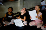 Kate Martin, 6, (center) of Galt smiles as she's selected for the Sacramento Ballet's Nutcracker production on Sunday, September 10, 2006. (Photo by Max Whittaker)