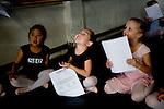 Kate Martin, 6, (center) of Galt smiles as she's selected for the Sacramento Ballet's Nutcracker production on Sunday, September 10, 2006. (Photo by Max Whittaker)