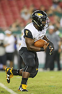 Tampa, FL - September 2, 2016: Towson Tigers running back Darius Victor (7) runs the ball during game between Towson and USF at the Raymond James Stadium in Tampa, FL. September 2, 2016.  (Photo by Elliott Brown/Media Images International)