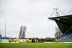 Oxford United 1 Accrington Stanley 2, 20/02/2016. Kassam Stadium, League Two. Oxford's home ground is the Kassam Stadium in Oxford and has a capacity of 12,500. United moved to the stadium in 2001 after leaving the Manor Ground, their home for 76 years. A free kick for Oxford late in the game. Photo by Simon Gill.