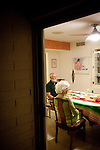 "Bonnie and Jim Hines share dinner with new neighbor Noren Shanley (not pictured) in the Hines' Sun City home December 8, 2010..""It's gentle, it's quiet,"" she said of Sun City. ..2010 marks the 50th anniversary of Sun City, America's first retirement city that remains the largest today with more than 40,000 residents 55 and older."
