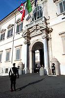 23 Novembre 2007 .Il palazzo del Quirinale residenza del Presidente della Repubblica.The 'Quirinale Palace' presidential residence .