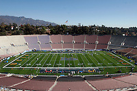 2 December 2006: Interior View of the stadium field and seating before the start of the Pac-10 college football upset UCLA beat the Trojans 13-9 during the final home game of the season for the UCLA Bruins vs the University of Southern California USC  Trojans at the Rose Bowl in Pasadena, CA.<br />