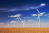 Electric Windmill, Wind power plant, Two Buttes, Colorado, USA