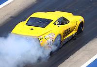Jun 18, 2016; Bristol, TN, USA; NHRA pro mod driver Troy Coughlin during qualifying for the Thunder Valley Nationals at Bristol Dragway. Mandatory Credit: Mark J. Rebilas-USA TODAY Sports