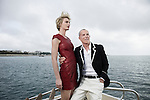 Jean-Claude Jitrois, leather designer, and his muse, Sarah Marshall, at 63rd Cannes Film Festival. France. 11 May 2010. Photo: Antoine Doyen