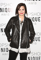 Demi Lovato arrives at the Unique show as part of London Fashion Week AW13, Tate Modern, London. 17/02/2013 Picture by: Henry Harris / Featureflash