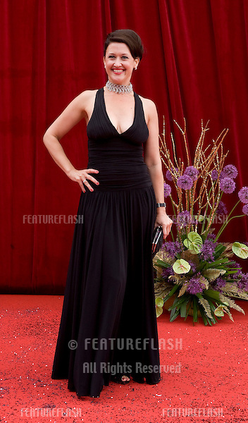 Angela Lonsdale arrives for the 2011 Soap Awards held at Granada Studios in Manchester. 14/05/2011. Picture by Simon Burchell/Featureflash