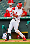 3 March 2011: St. Louis Cardinals' infielder Ramon Vazquez in action during a Spring Training game against the Washington Nationals at Roger Dean Stadium in Jupiter, Florida. The Cardinals defeated the Nationals 7-5 in Grapefruit League action. Mandatory Credit: Ed Wolfstein Photo
