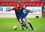 St Johnstone v Turriff Utd FC.. 02.08.16  IRN-BRU CUP 1st Round  <br />Leszek Nowosieski holds off Paul Simpson<br />Picture by Graeme Hart.<br />Copyright Perthshire Picture Agency<br />Tel: 01738 623350  Mobile: 07990 594431