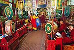Buddhist monks, Gandantegchinlen Monastery, Ulaanbaatar, Mongolia