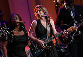 Shemekia Copeland (L) and Susan Tedeschi (R) perform with an all-star cast at a White House event titled In Performance at the White House: Red, White and Blues, February 21, 2012 in Washington, DC.  As part of the In Perfomance series, music legends and contemporary major artists have been invited to perform at  the White House for a celebration of Blues music and in recognition of Black History Month. The program featured performances by B.B. King, Troy &quot;Trombone Shorty&quot; Andrews, Gary Clark, Jr., Buddy Guy, Warren Haynes, Mick Jagger, Keb Mo and Derek Trucks, with Taraji P. Henson as the program host and Booker T. Jones as music director and band leader.  .Credit: Win McNamee / Pool via CNP