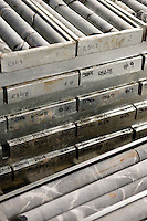 Mining core samples.<br /> <br /> Larger JPEG + TIFF images available by contacting use through our contact page at :..www.photography4business.com