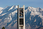 0610-70.Carillon Bell tower with Mt. Timpanogas.Autumn leaves..October 27, 2006..Photography by Mark A. Philbrick..Copyright BYU Photo 2006 .All Rights Reserved .photo@byu.edu  (801)422-7322