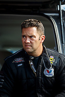Sep 16, 2016; Concord, NC, USA; NHRA funny car driver Dave Richards during qualifying for the Carolina Nationals at zMax Dragway. Mandatory Credit: Mark J. Rebilas-USA TODAY Sports