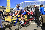 Mickael Delage (FRA) FDJ at sign on for the 115th edition of the Paris-Roubaix 2017 race running 257km Compiegne to Roubaix, France. 9th April 2017.<br /> Picture: Eoin Clarke | Cyclefile<br /> <br /> <br /> All photos usage must carry mandatory copyright credit (&copy; Cyclefile | Eoin Clarke)