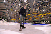 SCHAATSEN: HEERENVEEN: IJsstadion Thialf, 16-02-15, ijsmeester Beert Boomsma (Hoofd Technische Dienst), oplevering voor de verbouw, ©foto Martin de Jong
