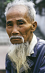 Portrait of Vietnamese elder in Hanoi, North Vietnam.  (Jim Bryant Photo).....