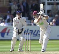 Photo Peter Spurrier.31/08/2002.Cheltenham & Gloucester Trophy Final - Lords.Somerset C.C vs YorkshireC.C..Somerset batting Michael Burns wicketkeper Richard Blakey